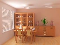 interior för sovrum 3d Royaltyfria Bilder