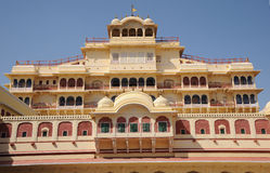 Interior facade of the city palace, Jaipur, India. Royalty Free Stock Images