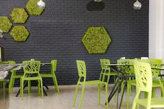 Interior of the factory canteen Royalty Free Stock Photography