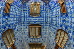 Interior of the famous casa Battlo building Stock Photo