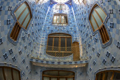 Interior of the famous casa Battlo building royalty free stock photography