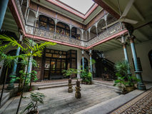 Interior of the famous Cheong Fatt Tze, Blue Mansion. The interior of the famous restoration of the Cheong Fatt Tze Blue Mansion in George Town, Penang Royalty Free Stock Photos