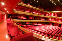 Interior famous national theater nicaragua. Ruben Dario National Theater Managua Nicaragua interior plush red velvet seats Central America Stock Images