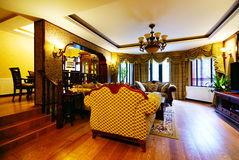 Interior of fancy home. With subdued lighting Royalty Free Stock Images