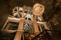 Interior fantástico da mina de sal de Wieliczka O Polônia do sul, encontra-se dentro da área metropolitana de w do ³ de Krakà imagens de stock