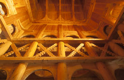 Interior of Fantoft Stave Church, Bergen, Norway Royalty Free Stock Photography
