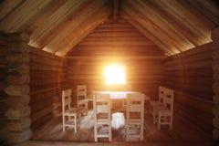 Interior farmhouse table Royalty Free Stock Photo