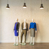 The interior of fashion clothing shop Stock Images