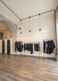 The interior of fashion clothing shop Stock Image