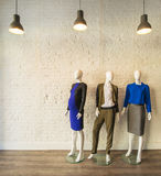 Interior of fashion clothing shop Royalty Free Stock Photo