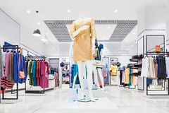 Interior of clothing store. Royalty Free Stock Photo