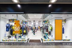 Interior of clothing store. Stock Photo