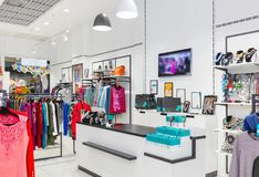 Interior of clothing store. Stock Images