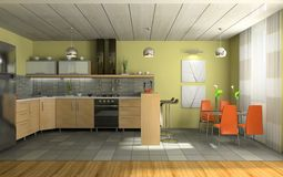 Interior of fashionable kitchen Royalty Free Stock Image
