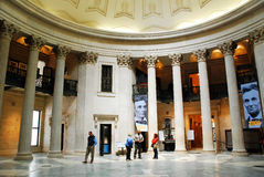 The interior of Federal hall, New York City. Interior of Federal Hall, Where George Washington took the Oath of the Presidency, New York City Stock Images