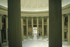 Interior of Federal Hall in New York, NY where George Washington was inaugurated Stock Photo
