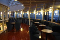 Interior of a ferry Stock Images