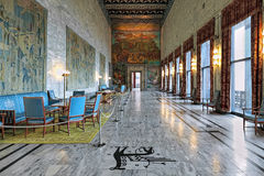 Interior of Festival Gallery in Oslo City Hall, Norway Stock Photography
