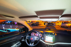 Interior of Fiat Freemont SUV car royalty free stock images
