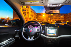Interior of Fiat Freemont SUV car royalty free stock image