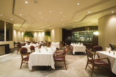 Interior of fine dining restaurant. An interior of a fine dining restaurant Royalty Free Stock Photo