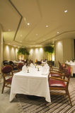 Interior of fine dining restaurant Royalty Free Stock Image