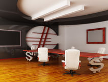Interior of fine office. (3d rendering Stock Photography