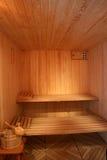 Interior finlandés de la sauna. Imágenes de archivo libres de regalías