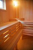 Interior of the Finnish sauna Stock Photography
