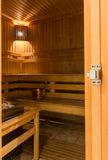 Interior of finnish sauna Stock Photography