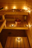Interior of a Finnish sauna Royalty Free Stock Photo
