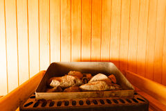 Interior of finnish sauna Royalty Free Stock Image