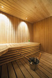 Interior of a Finnish sauna. Royalty Free Stock Photography