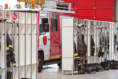 Interior of fire station Royalty Free Stock Photography