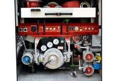 Interior fire truck Stock Photo