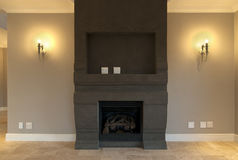 Interior - fireplace Royalty Free Stock Photos