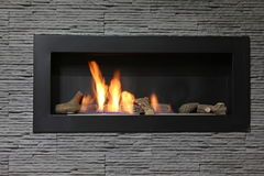 Interior fireplace Stock Photography