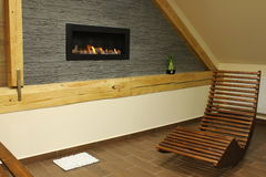 Interior fireplace Royalty Free Stock Images