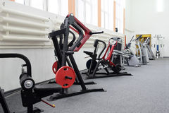 Interior of a fitness hall Royalty Free Stock Images