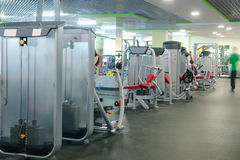 Interior of a fitness hall Stock Photography