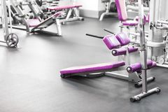 Interior of a fitness hall royalty free stock image