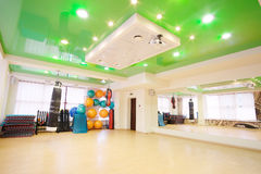 Interior of a fitness hall Stock Photos