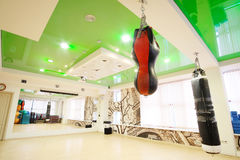 Interior of a fitness hall Stock Images