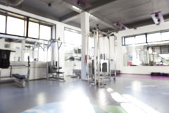 Interior of a fitness hall Royalty Free Stock Photography