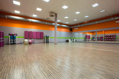 Interior of fitness room Stock Images
