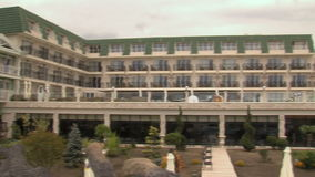 Interior of a five-star hotel in Kranevo, Bulgaria stock video footage