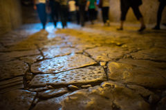 Interior floor of Santa Sofia in Istanbul Royalty Free Stock Photos