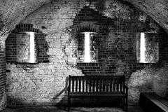 Interior of a Florida Fort circa 1800 royalty free stock image