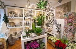 Interior of flower shop Royalty Free Stock Photos