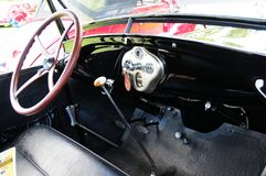 Interior of 1928 Ford horseless carriage Royalty Free Stock Photography